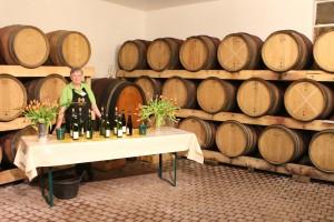 Wijnproeverij op locatie Materne Haegelin